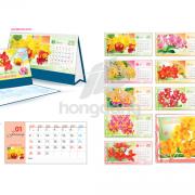 Mẫu thiết kế lịch để bàn có note 2018
