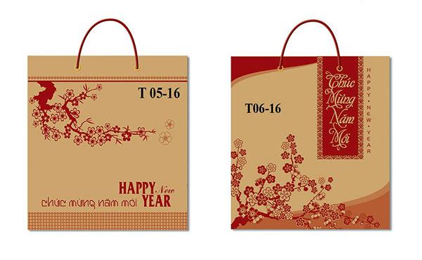 túi giấy đựng lịch 2018