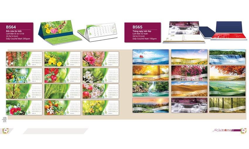 Thiết kế lịch để bàn độc quyền