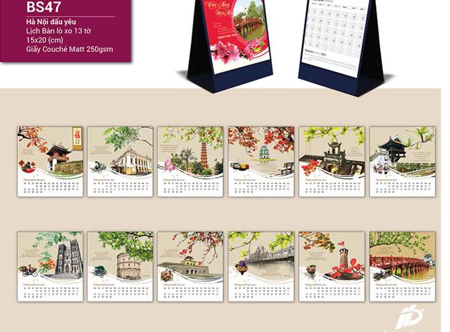 mẫu lịch để bàn